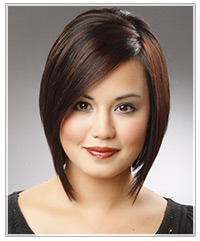 Model with short brown bob